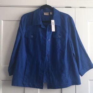 Royal blue linen jacket